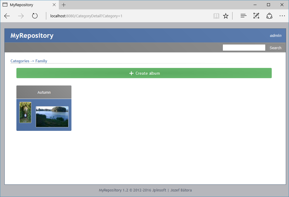 MyRepository (DMS) web interface